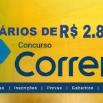 Concurso publico Correios 2018 Edital em aberto Nivel Medio – R$ 2.885,37